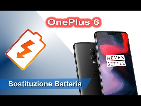 OnePlus 6 smontaggio e sostituzione batteria - Disassembly and battery replacement