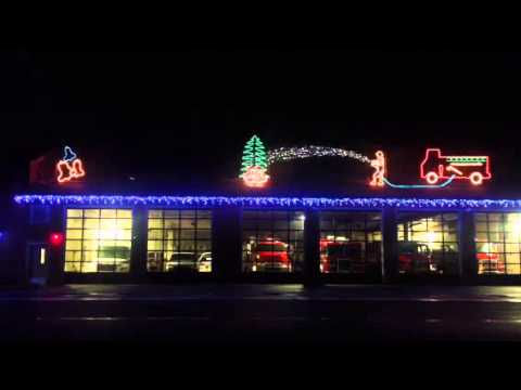 Best Fire Department Christmas Light Display - YouTube