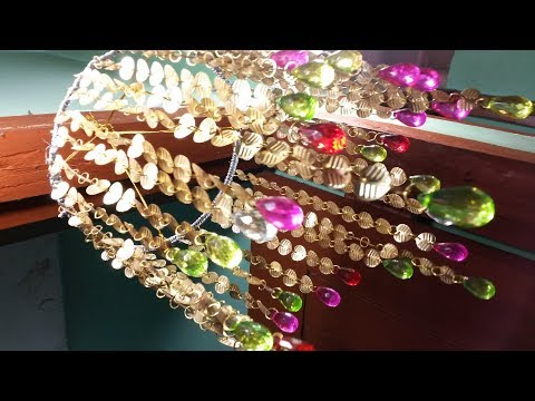 Amazing!DIY Golden Beaded Wind Chime- How To Make Beaded Wind Chime For Door/Wall Hanging Decoration