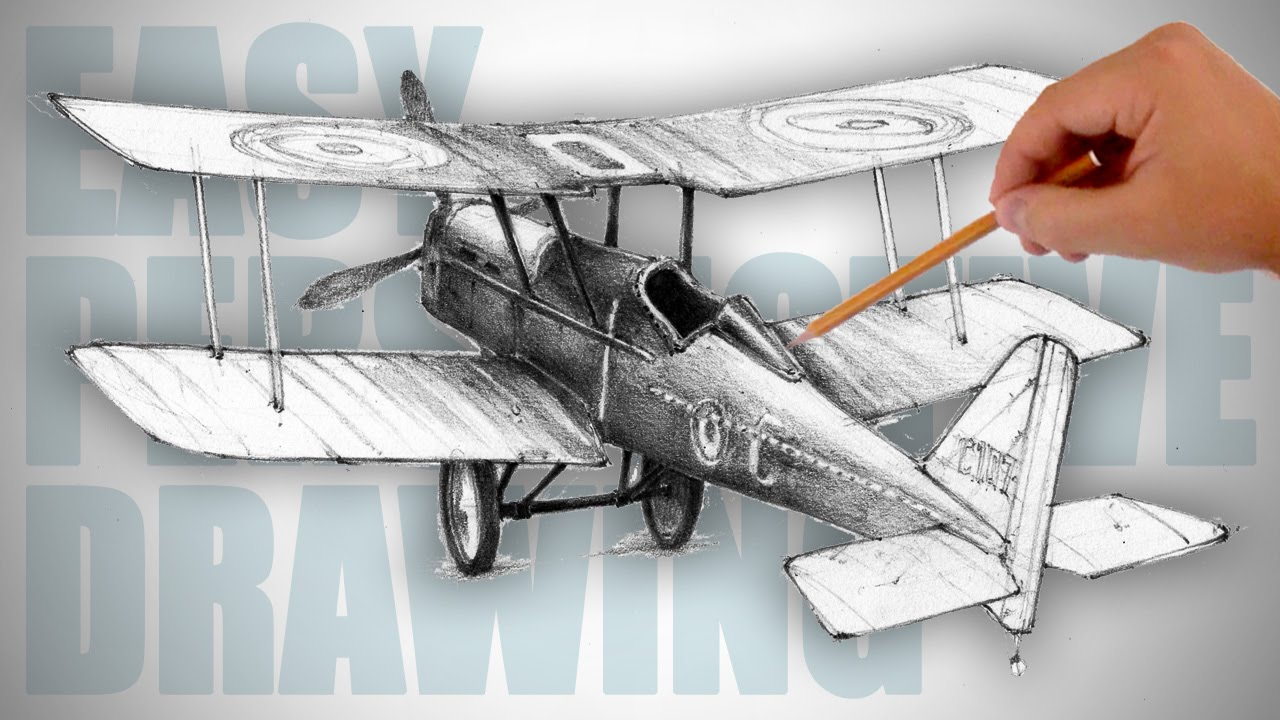How To Draw A Retro Airplane World War I