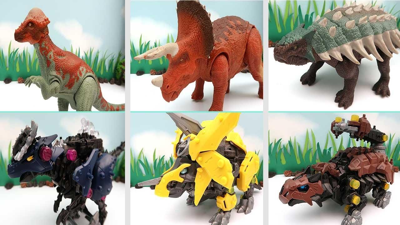 3 Dinosaurs Transformer 3 Dino ZOIDS WILD Robot! New Dinosaur Battle 파키케팔로사우루스