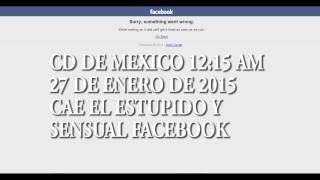 se cae facebook 27 de enero 2015