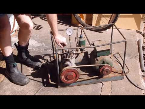 Garage sale $10 air compressor
