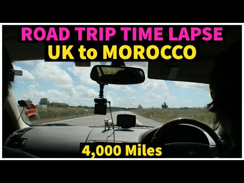 Time Lapse of the drive from Britain to Morocco
