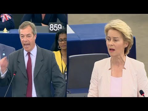 Nigel Farage CLASHES with Ursula von der Leyen: 'Thank God we're leaving!' (16th July 2019)