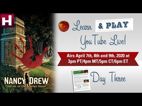 Learn u0026 Play LIVE! Nancy Drew: Secret of the Scarlet Hand - Day 3