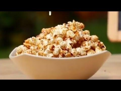 How To Make Healthy Homemade Caramel Popcorn || Saffron Trail Kitchen || Vegetarian Kid's Recipes