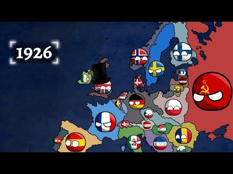 History of Europe (1900-2021) Countryballs