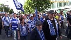 5500 MSV Fans im Protestmarsch gegen die DFL Lizenzverweigerung