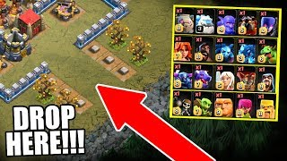❗❗ ATTENTION ❗❗ DROP ALL TROOPS HERE!! - Clash Of Clans