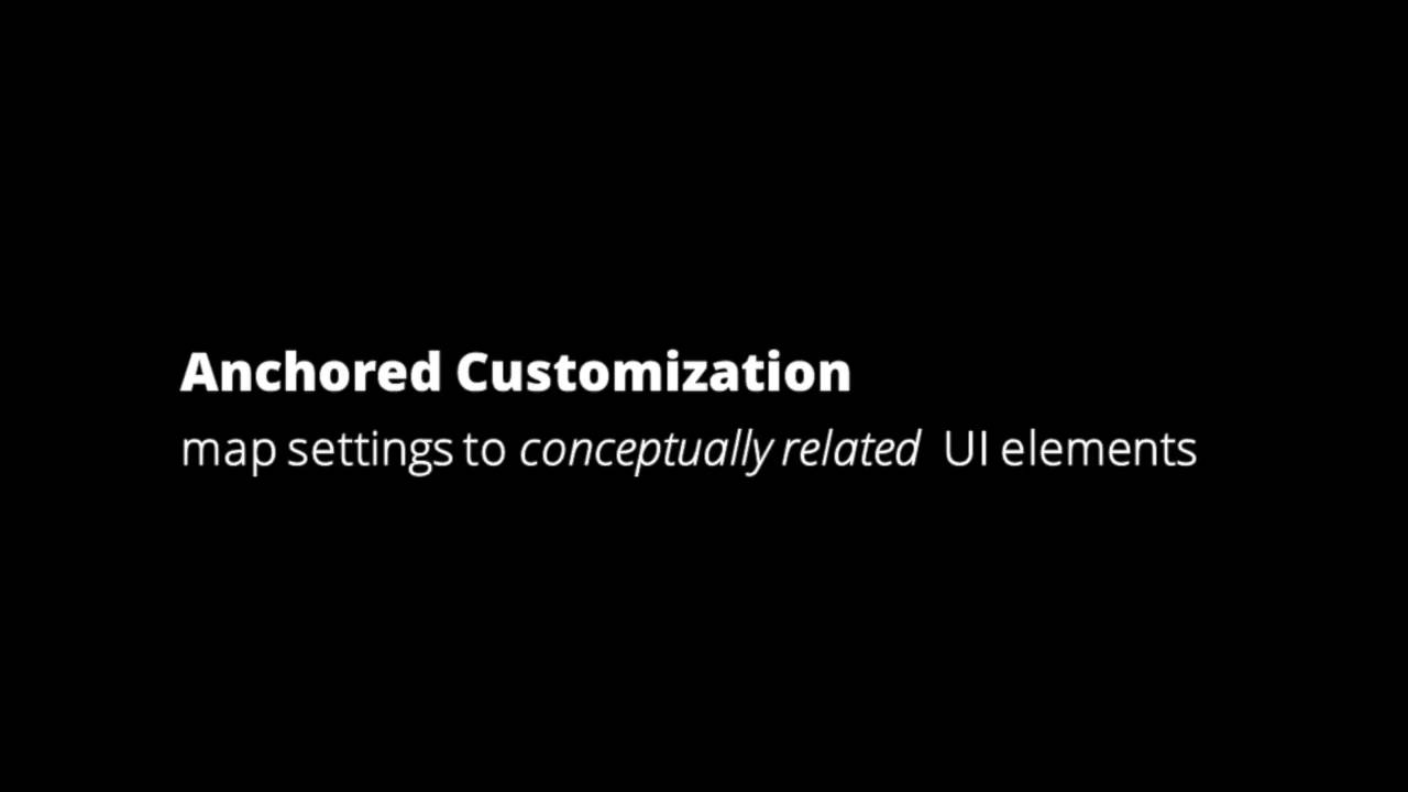 Anchored Customization