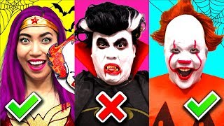 Halloween Pumpkin Carving Challenge!!! Pennywise Vs Pumpkin Girl! (CC Available) thumbnail