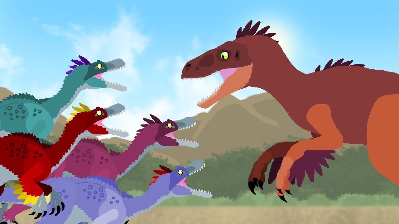 Dinosaurs cartoons battles: Velociraptor vs Utahraptor ...