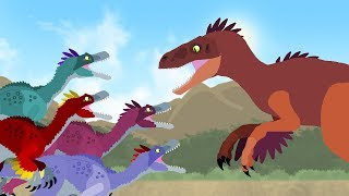 Dinosaurs cartoons battles: Velociraptor vs Utahraptor. Dinosaurs Fighting - DinoMania