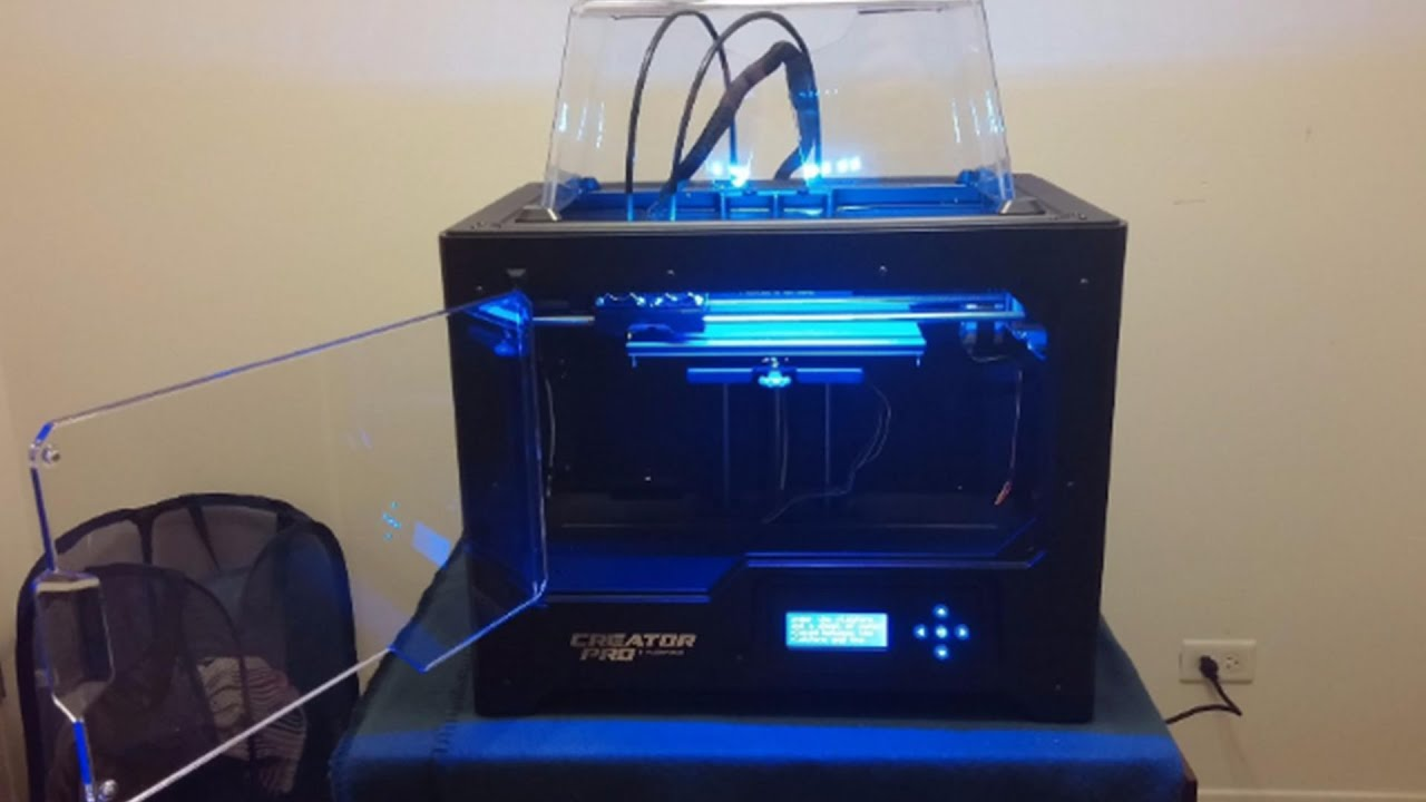 video FlashForge Creator Pro 3D Printer