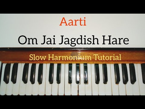 Om Jai Jagdish Hare Aarti Harmonium Tutorial (Notes Sargam)
