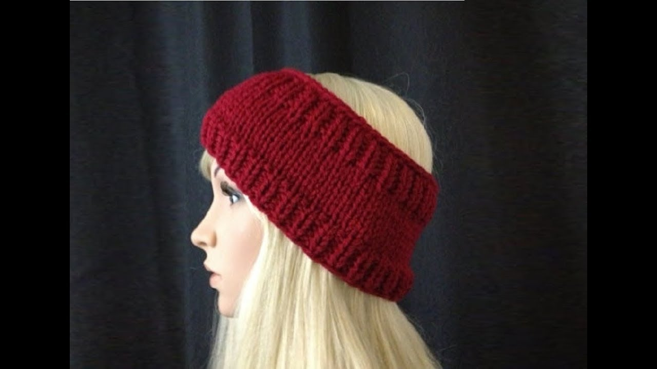 Pattern Knit Headband : How to Knit Earwarmers/Headband by ThePatterfamily Pattern #5 ?by ThePatterfa...