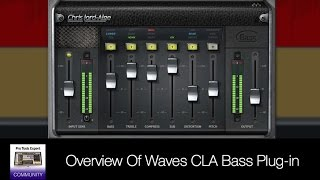 Overview Of Waves CLA Bass Plug-in