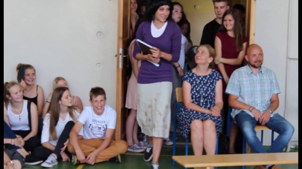 Zakończenie roku szkolnego 2015/2016, Skecz wykonany przez Absolwentów gimnazjum