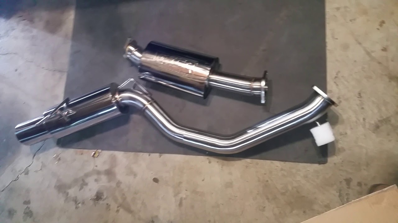 nissan 370z isr exhaust unboxing and