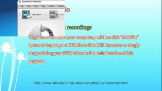 How to Convert DVR to MP4, MOV, WMV, AVI, VOB?