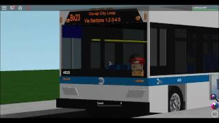(Roblox MTA NYCT Bus: 2009 Orion VII Next Gen Hybrid #4020 On the Bx23