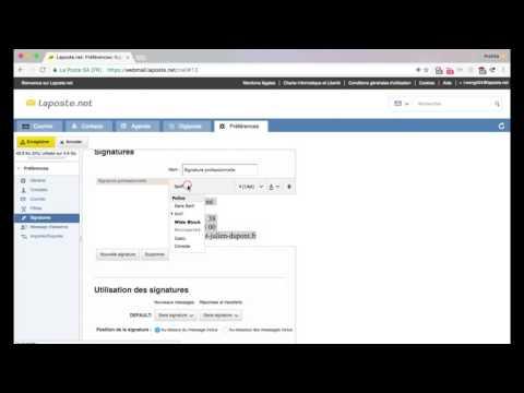 Comment changer la signature email de ma messagerie Laposte.net