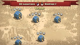 We Are BD Indomitable And We Just Showed you Our Pro Skills | Fair Play Clan War Clash Of Clans