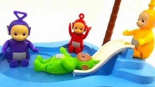TELETUBISIE na basenie, ale niestety GARGAMEL wkracza i pogania Teletubisie