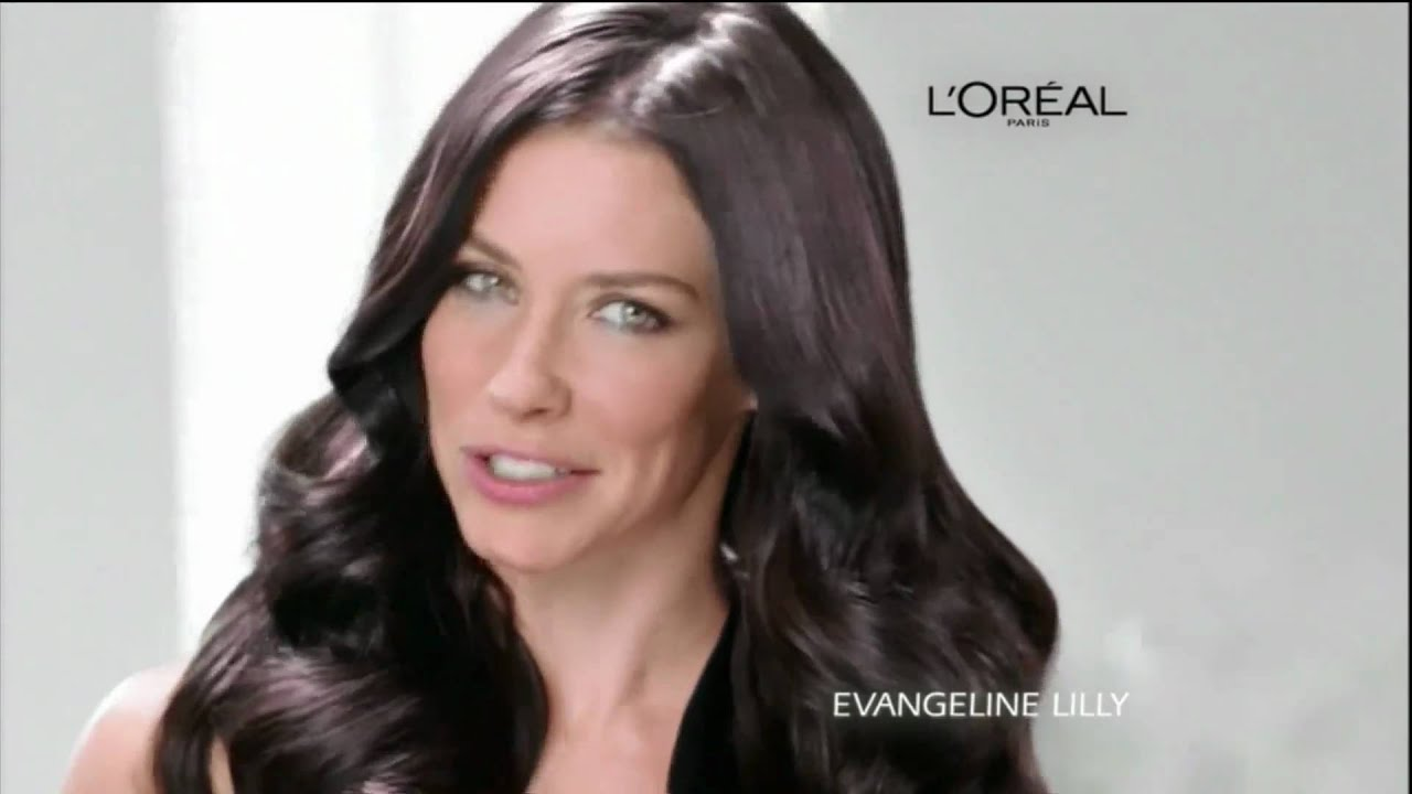 loreal evangeline lilly healthy look creme gloss color ad rec 102610 - L Oral Gloss Color
