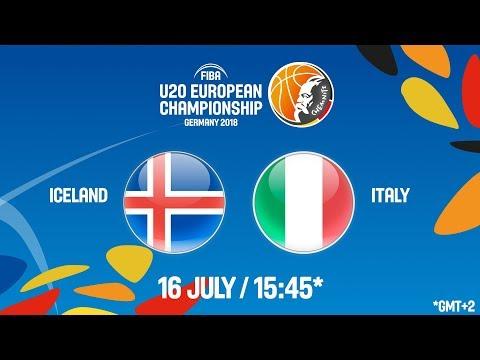 LIVE 🔴 - Iceland v Italy - FIBA U20 European Championship 2018
