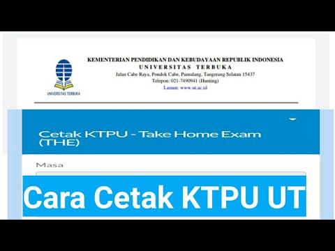 Cara Cetak KTPU UT Lewat sia.ut.ac.id