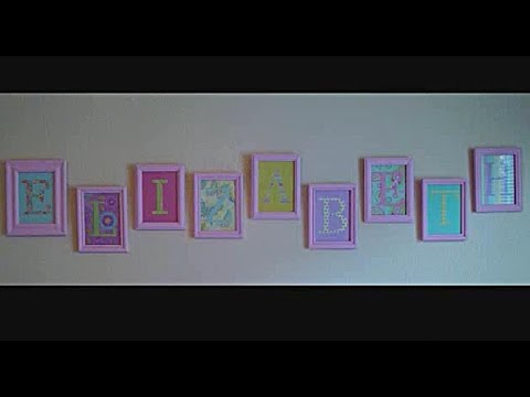 DIY: Name Wall Decoration - YouTube