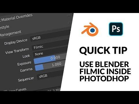 Use Blender Filmic inside Photoshop