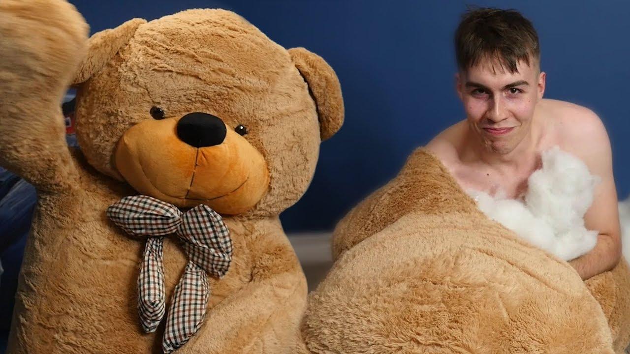 i got inside a giant teddy bear youtube