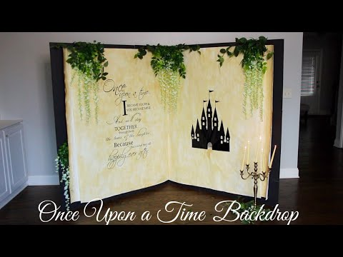 Once Upon a Time Storybook Backdrop Tutorial | Dollar Tree DIY Backdrop