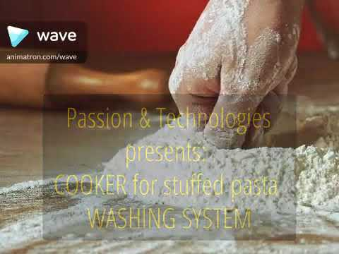 Cooker for Stuffed Pasta | washing system for fresh precooked pasta | Sarp