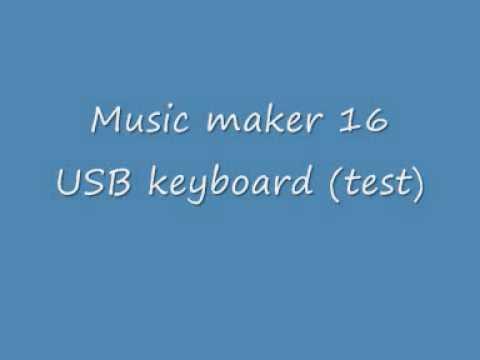 Music Maker 16 USB keyboard (test)