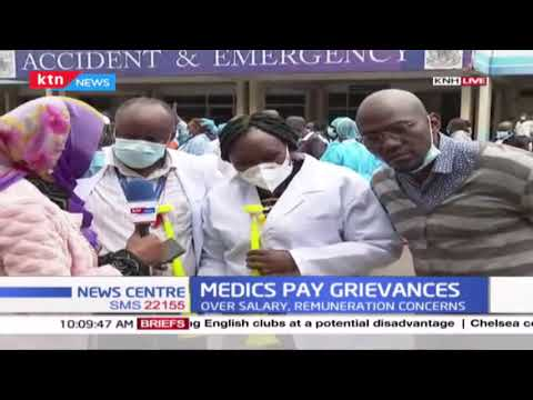 Medics hold procession over salaries and remuneration concerns