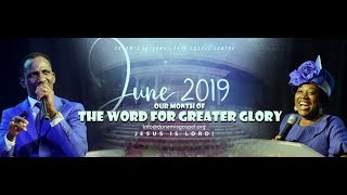 FROM THE GLORY DOME: JUNE 2019 IMPARTATION SERVICE. 16-06-19