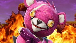 fortnite teddy bear outfit - pink cuddle bear fortnite