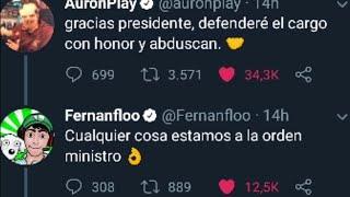AURONPLAY, FERNANFLOO, PERXITAA Y EL PRESIDENTE DE EL SALVADOR DISCUTEN POR TWITTER 🤣