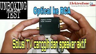 Audio Converter Digital ke Analog ( Optical ke RCA)