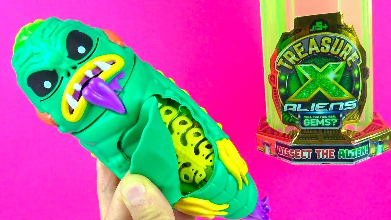 Uzaydan Gelen Hazine Avı Sürpriz Treasure X Alien Uzaylılar içine hapsolan Süper nadir Hazine avcısı