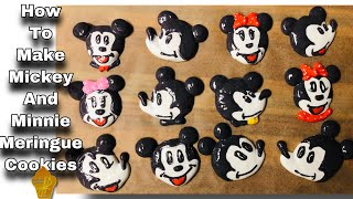 HOW TO MAKE MICKEY AND MINNIE MOUSE MERINGUE COOKIES  Super Easy To Make