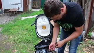 Замена блока управления двигателем (коммутатора CDI) на скутере Honda DIO AF-56