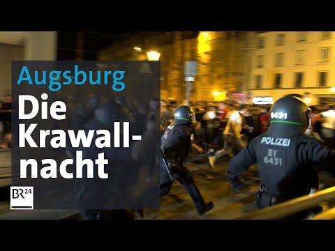 Polizisten bespuckt und getreten: Chronologie der Augsburger Gewalt-Nacht   BR24