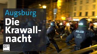 Polizisten bespuckt und getreten Chronologie der Augsburger Gewalt-Nacht  BR24