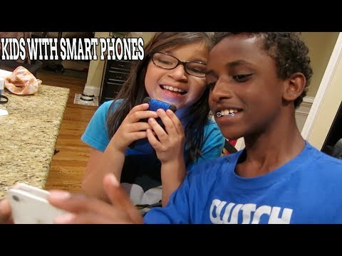 Kids with Smart Phones