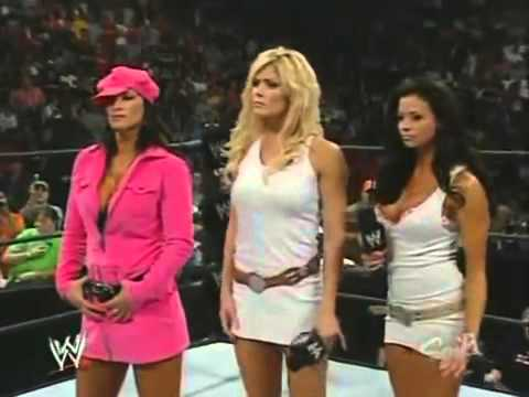 2005 09 12 RAW Trish Stratus Returns to Save Ashley from Victoria, Candice Michelle, and Torrie Wi